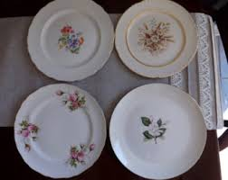Shabby Chic Plates by Ivory China Etsy