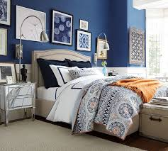 Blue And Gray Bedding Pia Medallion Quilt U0026 Sham Pottery Barn