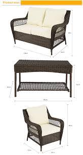 2017 hand weaved patio furniture rattan sofa and aluminum