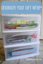 Organize Gift Wrap - organize your gift wrap collection
