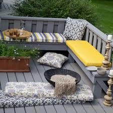 furniture cozy decks with lattice outdoor bench cushions for