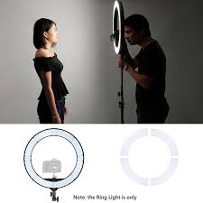 neewer led ring light neewer 18 inches ring light with stand kit bi color 55w dimmable led