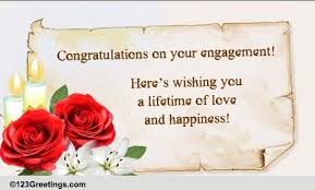 engagement congratulations card engagement card wishes best wishes on your engagement free