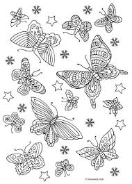 turn butterfly and flower coloring pages for adults into stylish
