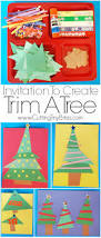 invitation to create trim a tree what can we do with paper and glue