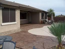 Backyard Concrete Patio Backyard Concrete Ideas