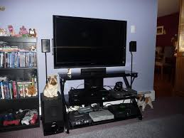 Home Cinema Accessories Decor Bedroom Dazzling Pair Of 3 Sanus Htb3 Furniture Home Theater
