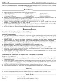 Manual Testing 3 Years Experience Sample Resumes Software Tester Resume Sample Resume Sample