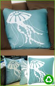 jellyfish coastal throw pillows for eco chic beach home decor