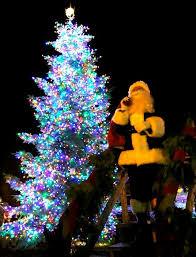 tree lighting festival jolly downtown kick