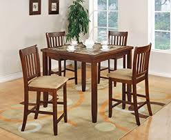 pub height table and chairs amazon com coaster normandie 5 piece counter height table set
