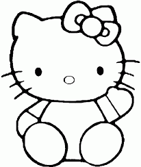 hello kitty coloring pages to color online cartoon characters