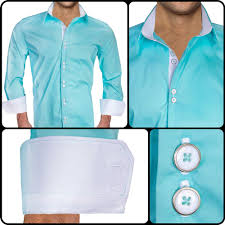 teal with white dress shirts