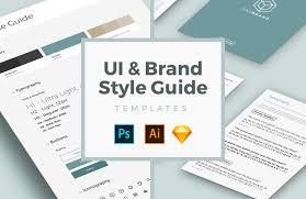 free ui u0026 brand style guide templates u2014 medialoot