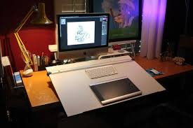 Drafting Table With Computer Removable Drafting Table With Pictures