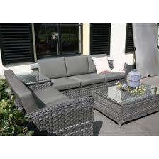 canapé d angle jardin salon de jardin résine tressée mobilier de jardin