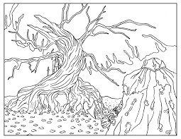 Printable Halloween Pages Free Printable Halloween Coloring Pages For Adults Best Coloring