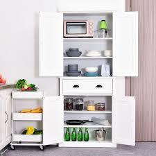 kitchen cabinet storage canada homcom 72 wood kitchen pantry cabinet storage cupboard