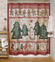 christmas shower curtain holiday themed curtains for all to enjoy