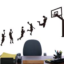 popular nba wall decals buy cheap nba wall decals lots from china custom nba basketball players wall sticker vinyl diy wall decals for kids rooms stadium shop decoration