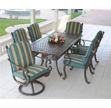 Cast Aluminum Patio Table And Chairs Cast Aluminum 84 Inch Rectangle Patio Table Set