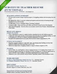 Teachers Resume Sample by Functional Resume Samples U0026 Writing Guide Rg