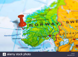 Norway World Map by Bergen Norway Map Stock Photo Royalty Free Image 125785997 Alamy