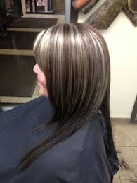 how to blend grey hair with highlights gray highlights in brown hair hair pinterest grey highlights