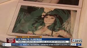 las vegas man finds album filled with pictures of former showgirl