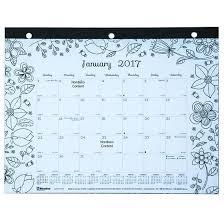 desk pad calendar 2017 blueline c2917213 2017 doodle plan coloring desk pad calendar