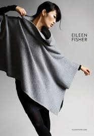 eileen fischer easy folded poncho pattern by churchmouse yarns and teas eileen