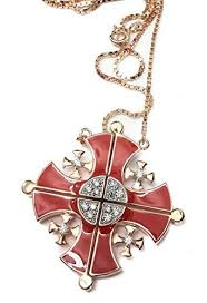 gold plated cross necklace images Silver 925 gold plated opens jerusalem cross necklace red enamel jpg
