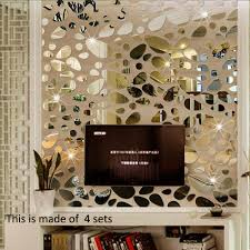 Decorative Mirrors For Living Room by Aliexpress Com Buy 12pcs Set 3d Diy Wall Sticker Decoration