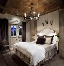 luminaire chambre à coucher chambre rustique