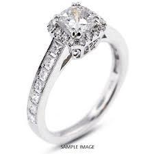 vintage square engagement rings 18k white gold vintage style engagement ring with halo with 3 71