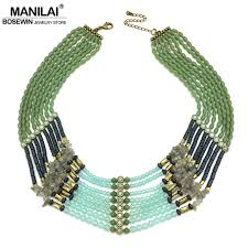 beaded collar necklace images Manilai vintage bohemia beaded necklaces women handmade multicolor jpg
