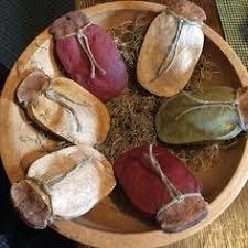 primitive salt dough ornies handmade ornaments primitive bowl