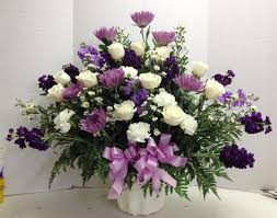 white floral arrangements funeral arrangements delivered az