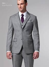 silver grey tuxedos 2016 sale suits two buttons wool