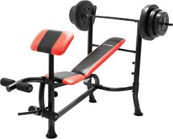 marcy competitor pro standard weight bench with 100 lb weight set