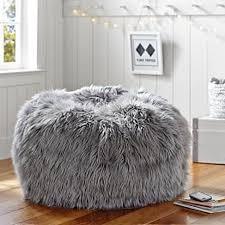 furry bean bag chairs for teens black fuzzy kohl u0027s to furry bean