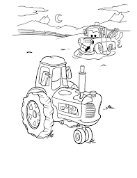 free printable mater and tractor tipping colouring page coloring