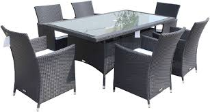 inspirations black wicker dining chairs with black resin wicker