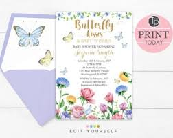 top collection of baby shower butterfly invitations to inspire you