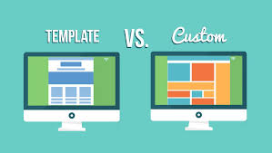 Custom Template template website design vs custom website design