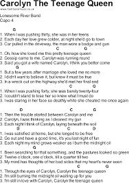 U Got It Bad Lyrics Songs With Chords Carolyn The Teenage Queen