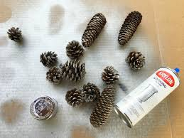 pine cone crafts pinecone decorations diy glitter pinecones