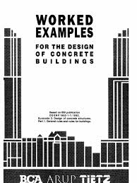bca worked examples design of concrete building