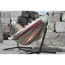 vivere hammocks double polyester hammock with stand u0026 reviews