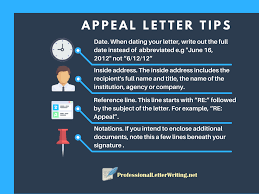 appeal letter writing 5 steps